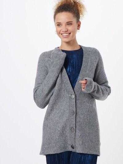 ESPRIT Strickjacke 'cardigan struct' in grau, Modelansicht