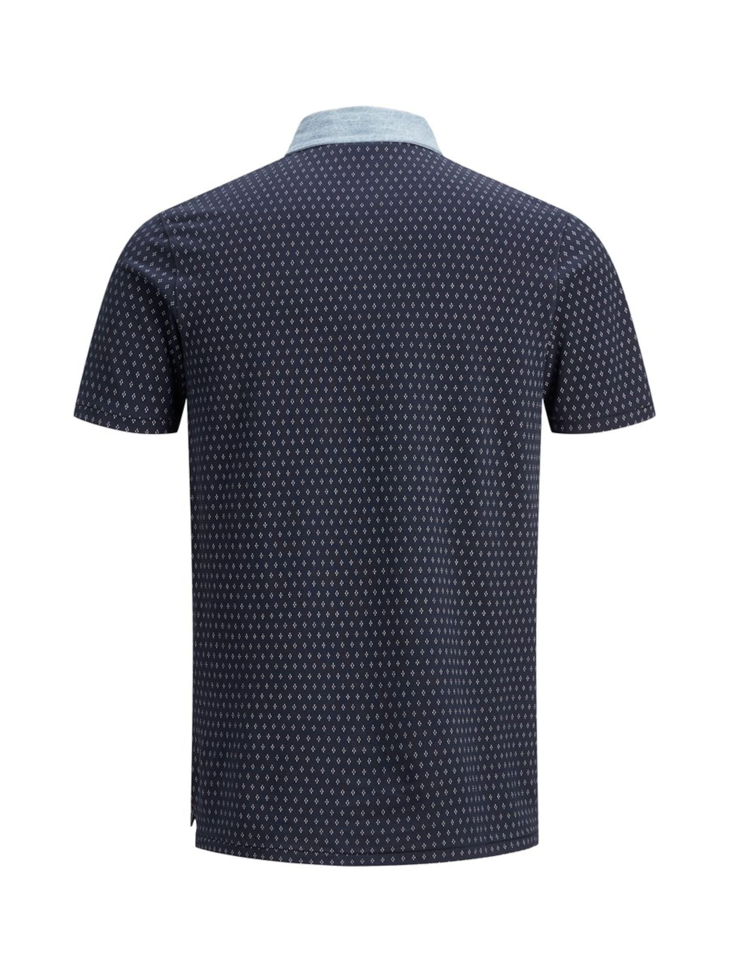 shirt Jones T 'darren En Denim Polo' Jackamp; BluSs Bleu Marine Aop KJl1cTF3