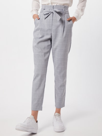 Pantaloni eleganți 'VMJENNANAEVA' VERO MODA pe albastru / alb, Vizualizare model