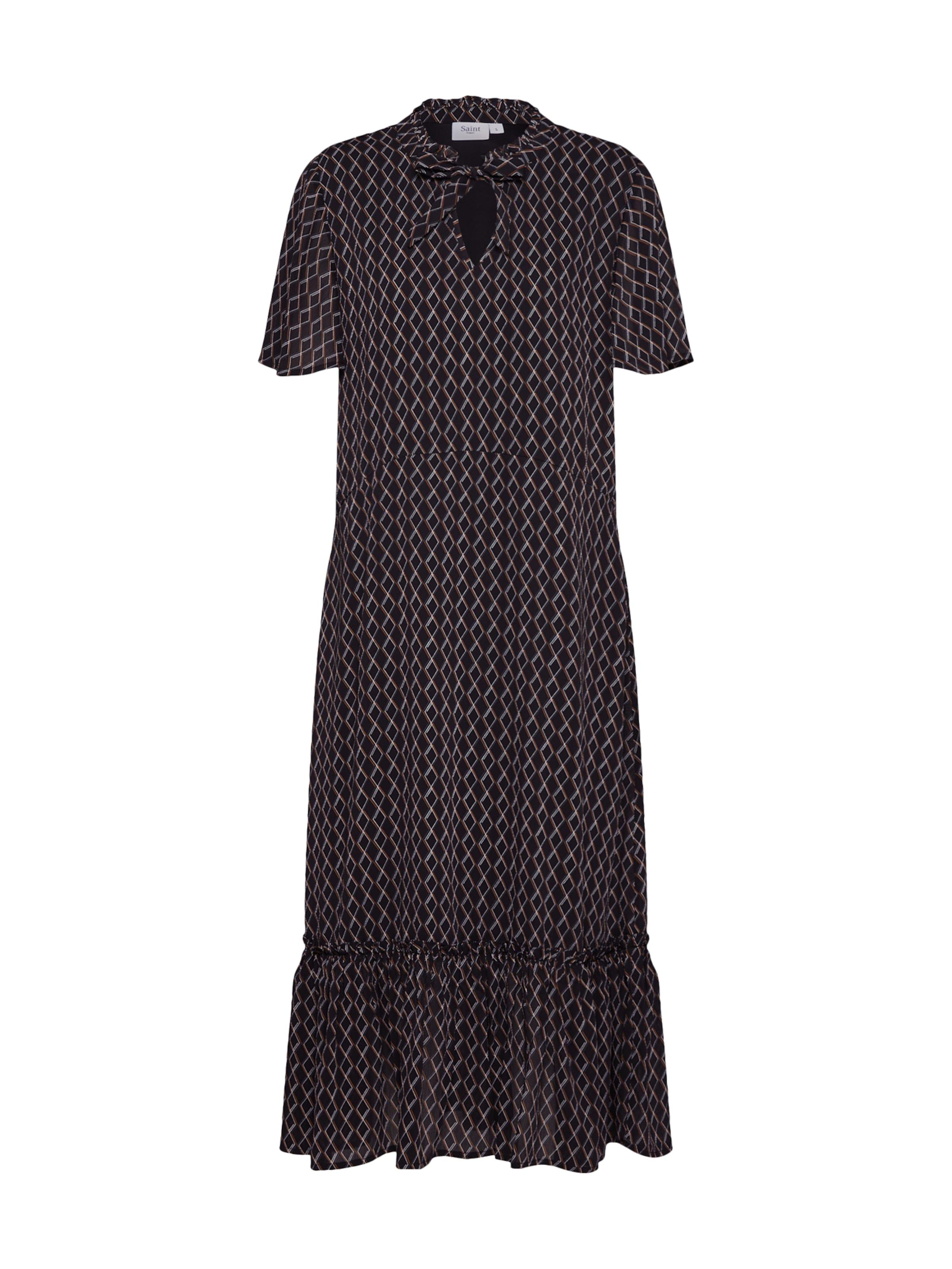 DressMaxi' Tropez Noir Robe chemise 'woven Saint En lK1JFc