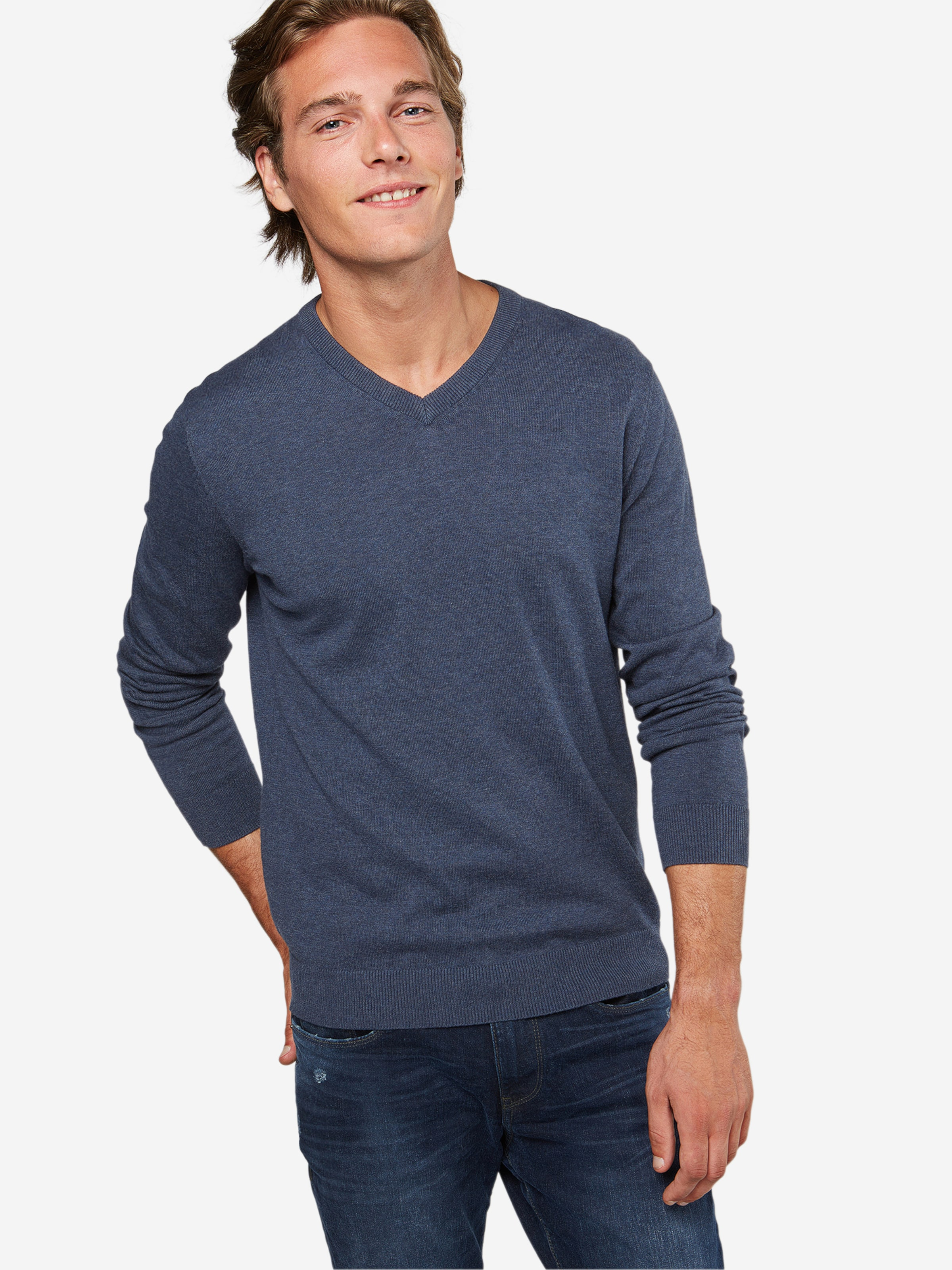 Billig Original ESPRIT Pullover 'Basic CO V-nk' Rabatt Shop-Angebot DGtEj5oZF6