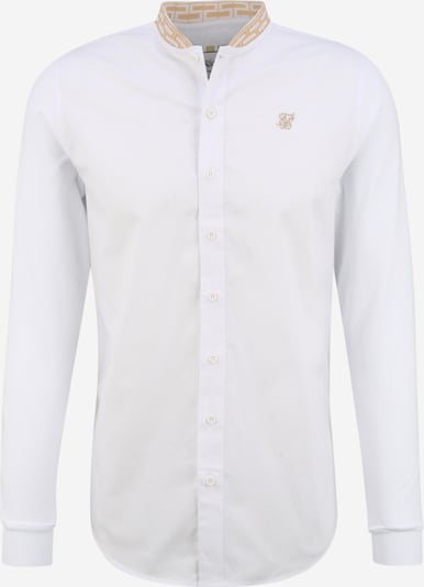 SikSilk Hemd 'siksilk l/s chain tape collar shirt' in weiß, Produktansicht