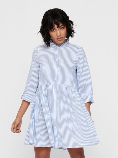 ONLY Shirt dress 'ONLDITTE LIFE' in Light blue / White, View model