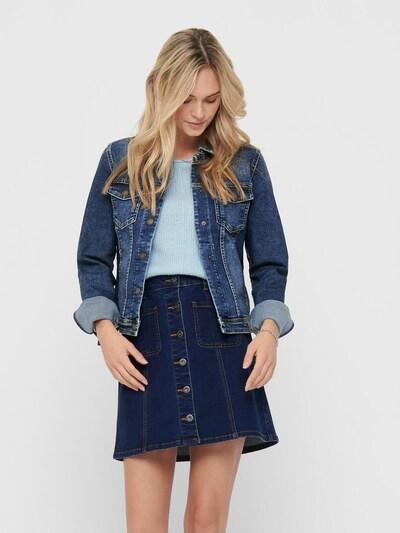 ONLY Kurze Jeansjacke in blau: Frontalansicht