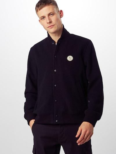 Nudie Jeans Co Prehodna jakna 'Bengan' | črna barva: Frontalni pogled