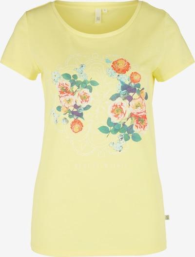 Q/S designed by T-Shirt in gelb / mischfarben: Frontalansicht