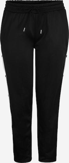 Pantaloni Urban Classics Curvy pe negru / alb, Vizualizare produs