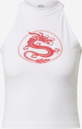Merchcode Top 'Ladies Dragon Turtleneck Short Top' in weiß, Produktansicht