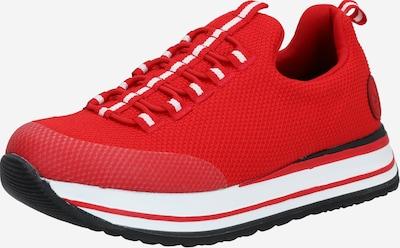 RIEKER Sneaker in feuerrot / weiß, Produktansicht