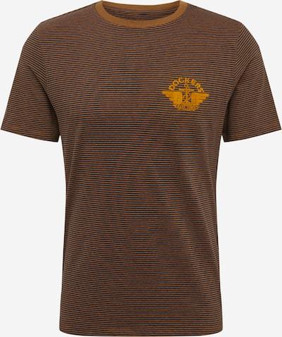 Dockers Shirt in dunkelblau / braun / honig, Produktansicht