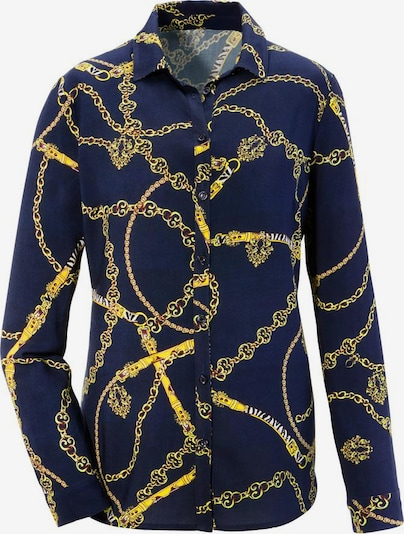 Aniston SELECTED Bluse in marine / gold, Produktansicht
