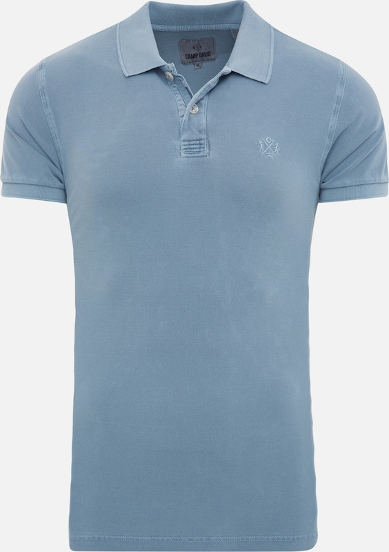 CAMP DAVID Polo in rauchblau, Produktansicht