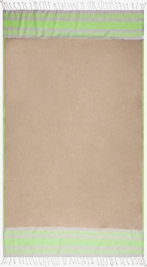 CODELLO Strandtuch mit stylischen Fransen in grün / lavendel, Produktansicht