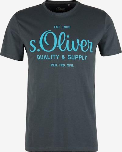 s.Oliver T-Shirt in aqua / dunkelgrau, Produktansicht