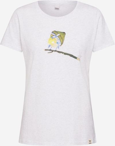 Iriedaily T-shirt 'It Birdy' en mélange de couleurs / blanc chiné: Vue de face