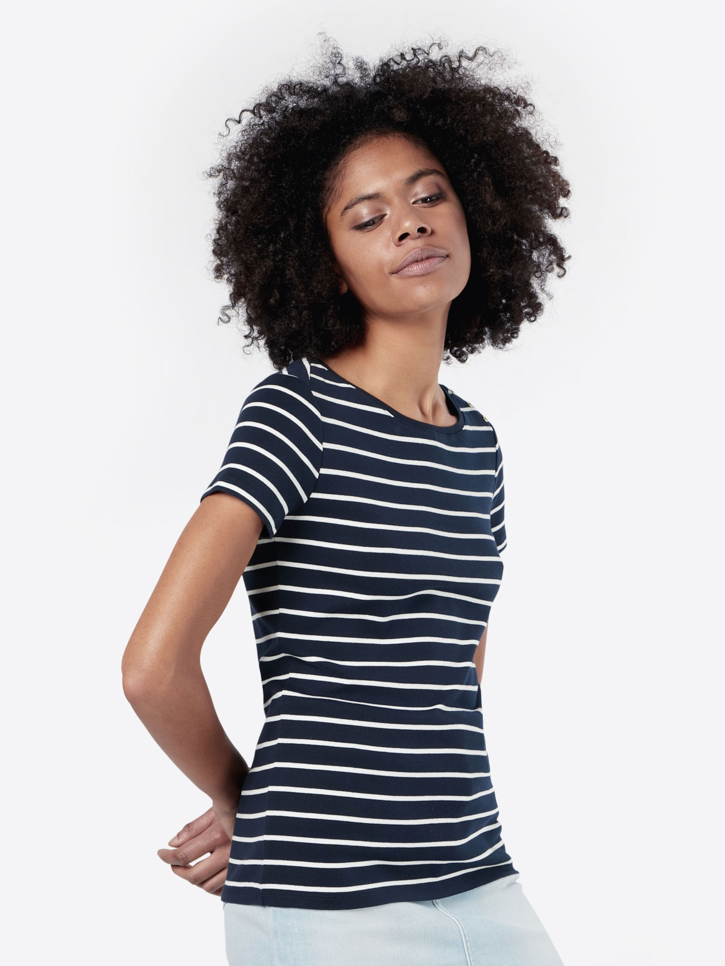 Esprit NavyWeiß 'ocs Shirt Organic' In u3KclFT1J5