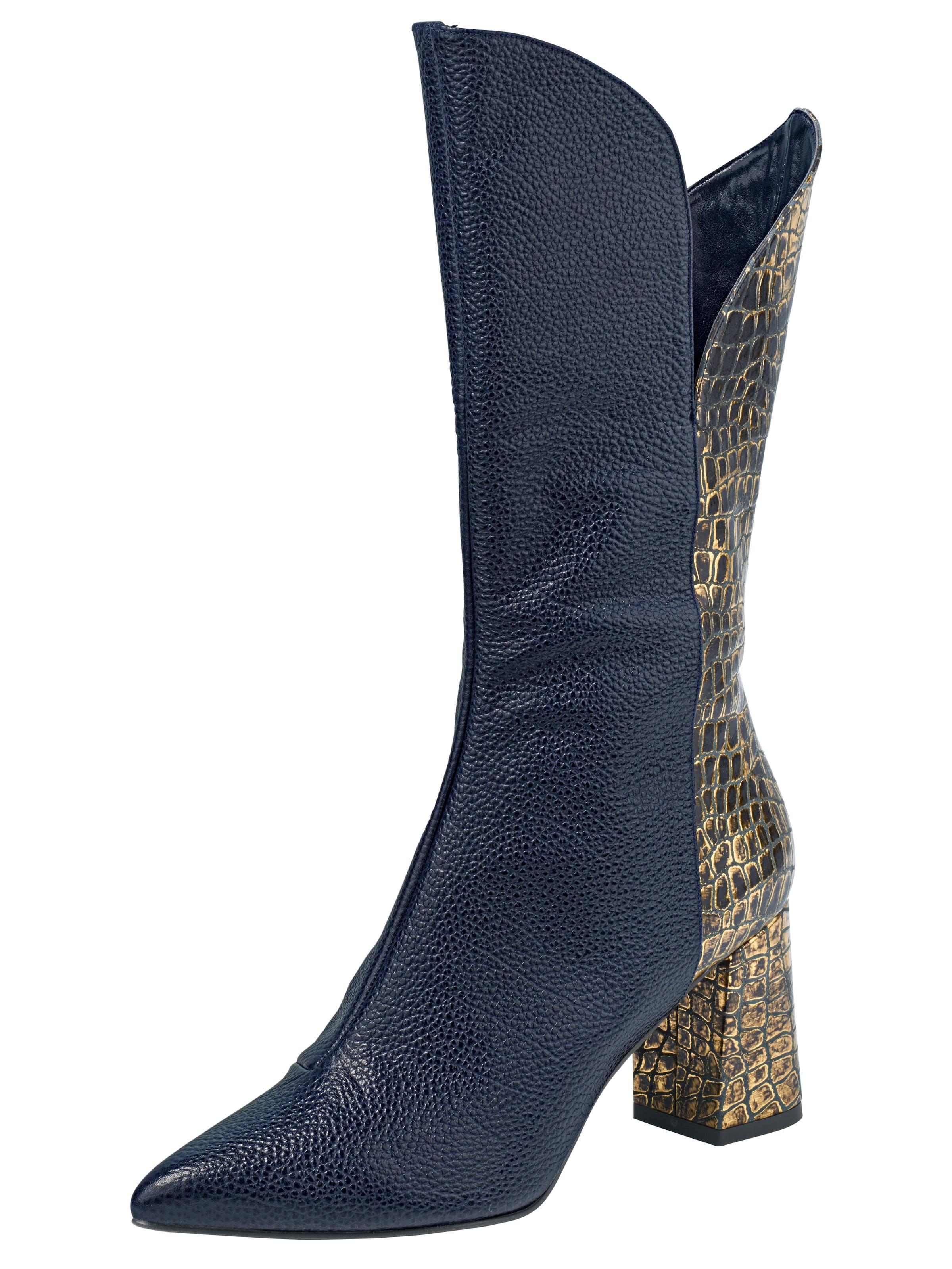 heine Stiefel mit Animal-Print Verschleißfeste billige Schuhe