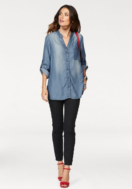 Laura Scott Jeansbluse