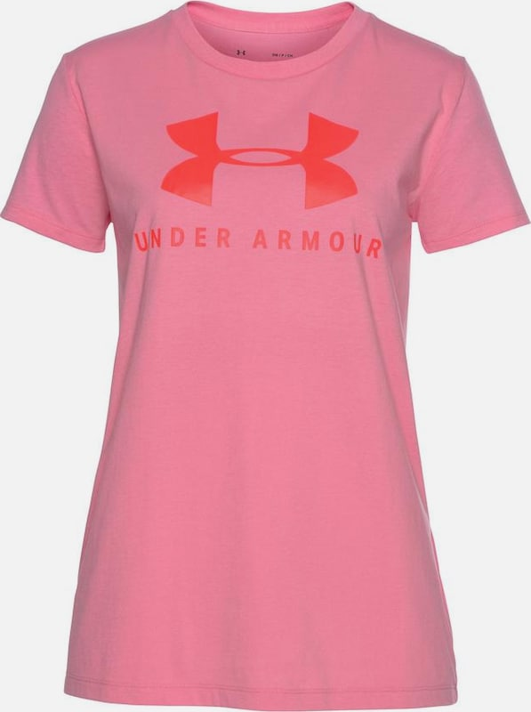 UNDER ARMOUR T-Shirt in rosa / rot: Frontalansicht