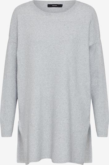 VERO MODA Pullover 'BRILLIANT' in hellgrau / weiß, Produktansicht