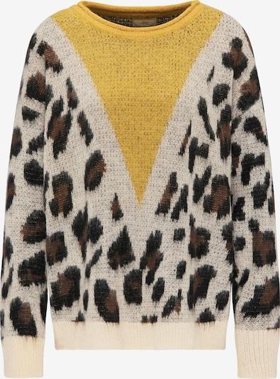 MYMO Pullover in beige / braun / senf, Produktansicht