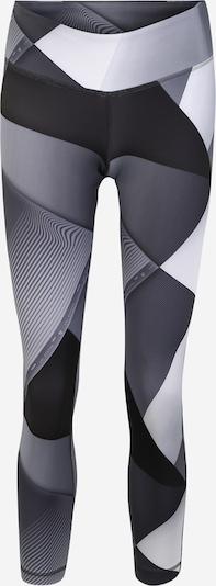 REEBOK Sporthose in hellgrau / dunkelgrau / schwarz, Produktansicht