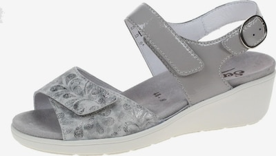 SEMLER Sandalen in grau / silbergrau, Produktansicht