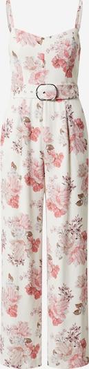 Forever New Combinaison en rose / blanc, Vue avec produit