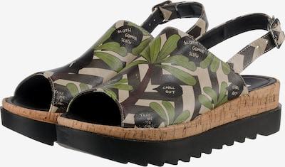 DOGO 'Chilly' Klassische Sandalen in grün / puder / schwarz, Produktansicht