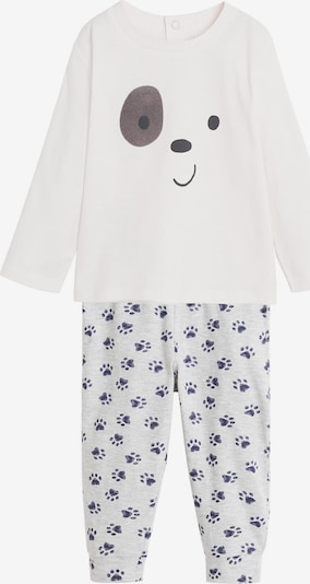 MANGO KIDS Pyjama 'PIJAMA PACK DOG' in creme, Produktansicht