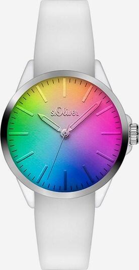 s.Oliver Quarzuhr 'SO-3199-PQ' in mischfarben / silber / weiß, Produktansicht