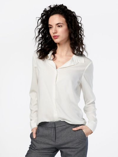 Samsoe Samsoe Blouse 'Milly' in de kleur Wit, Modelweergave