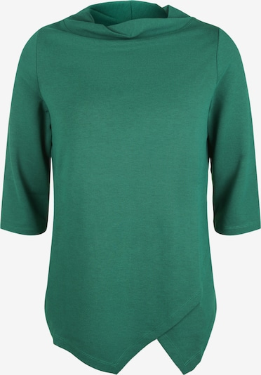 seeyou Rollkragenpullover in asymmetrischer Form in grün, Produktansicht