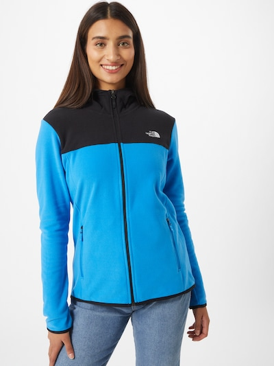 THE NORTH FACE Bluza rozpinana sportowa w kolorze błękitny / czarnym: Widok z przodu