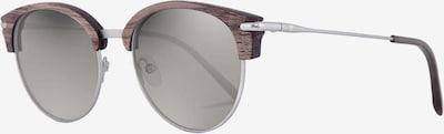Kerbholz Brille 'Carl' in braun / silber, Produktansicht
