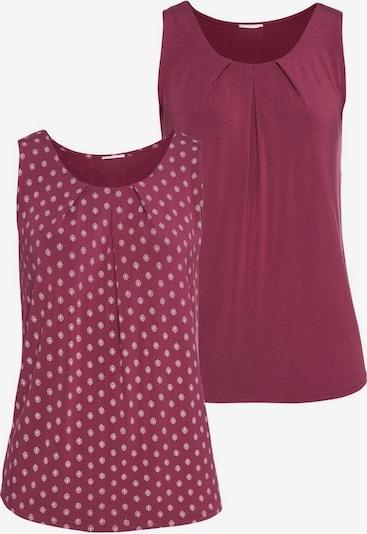 LASCANA Top in de kleur Framboos / Wit: Vooraanzicht