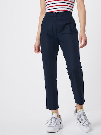 TOMMY HILFIGER Kalhoty s puky 'Slub' - tmavě modrá, Model/ka