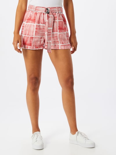 UNITED COLORS OF BENETTON Shorts in rot / weiß, Modelansicht