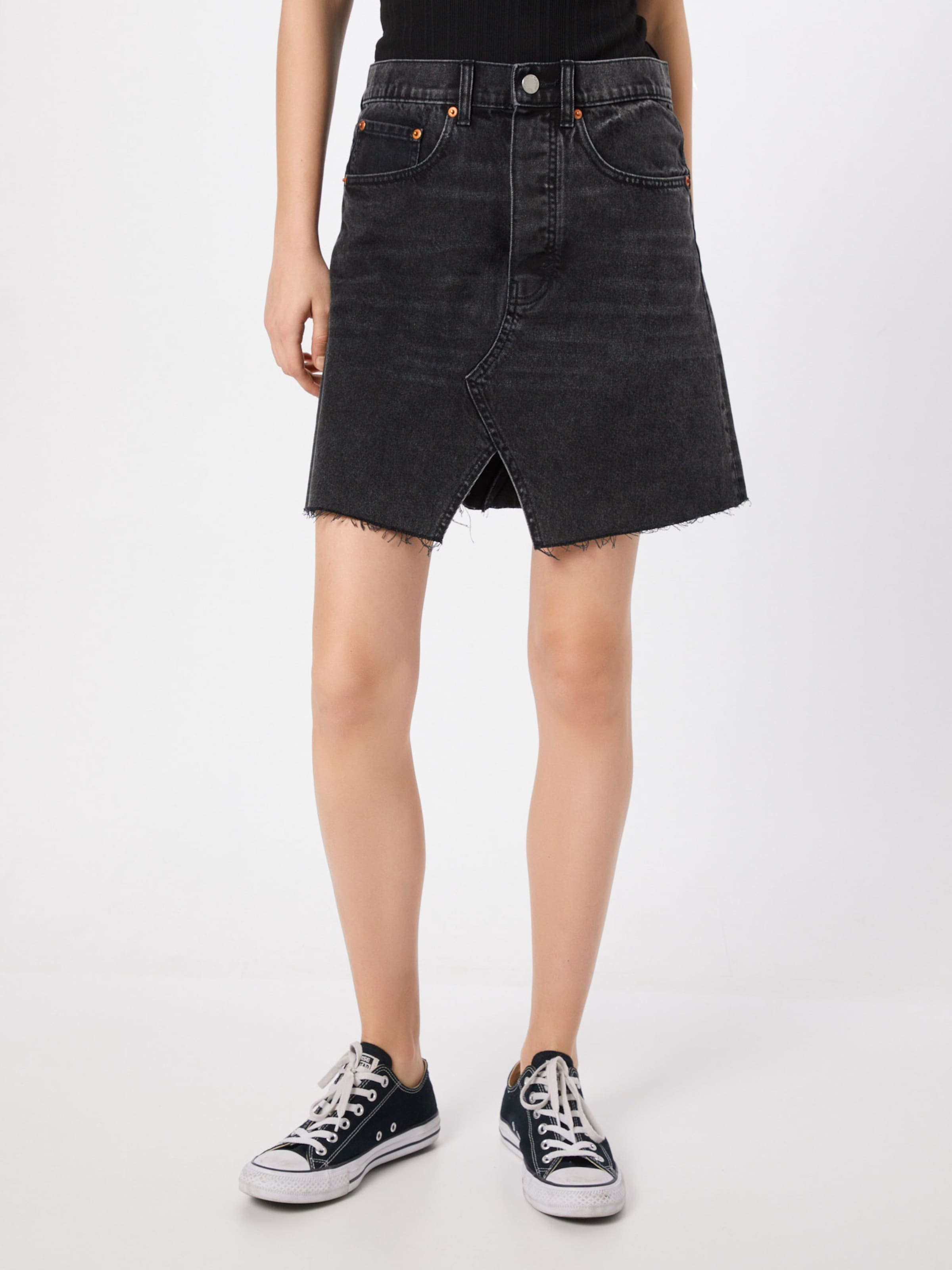 Jupe 'shrunken Skirt' En Gris Monday Cheap Denim SzVUMpq