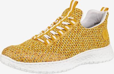 RIEKER Sneaker in goldgelb / weiß, Produktansicht