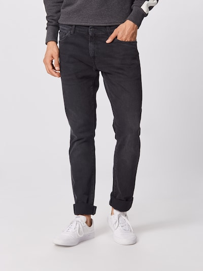 Carhartt WIP Jeans 'Rebel Pant' in de kleur Black denim: Vooraanzicht