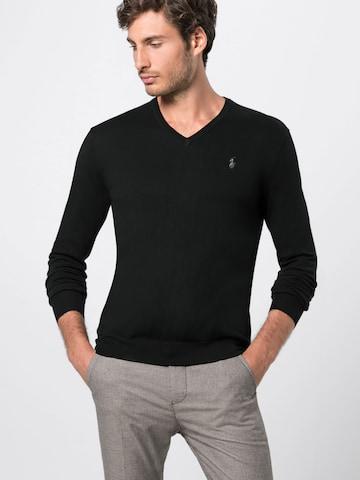 Polo Ralph Lauren Sweter 'LS SF VN PP-LONG SLEEVE-SWEATER' w kolorze czarny