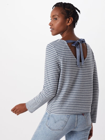 ONLY Pullover 'ONLELLY STRIPE TOP' in blau / weiß: Frontalansicht