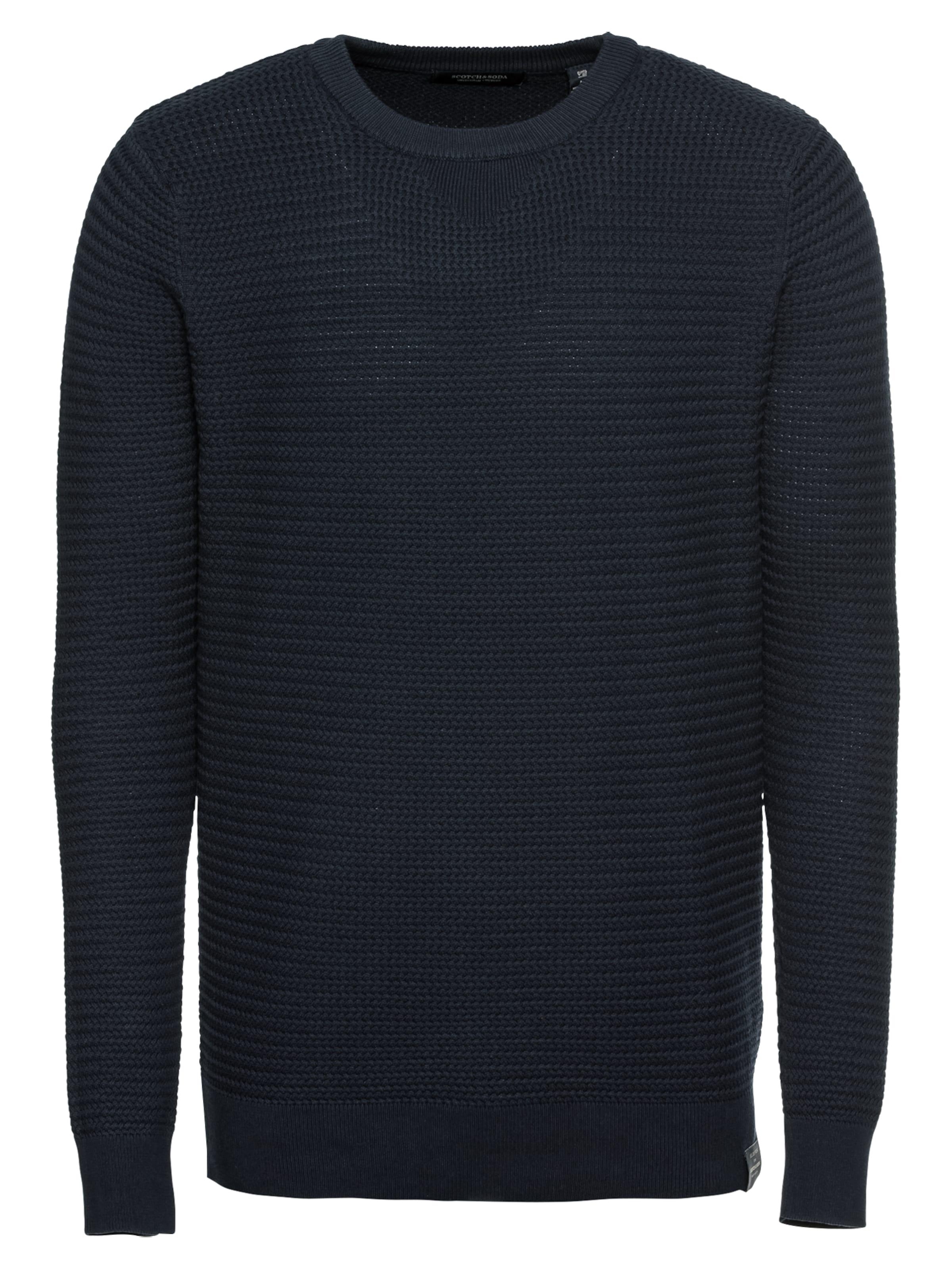 In Crewneck Structured Knit' Nachtblau 'chic Pullover Soda Scotchamp; DIW92EH