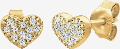 ELLI PREMIUM Ohrringe 'Herz' in gold, Produktansicht
