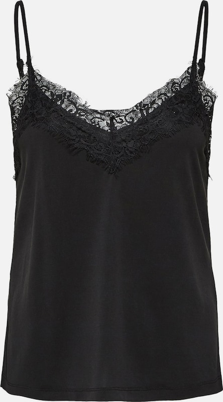 SELECTED FEMME Top 'SLFELLA LACE SINGLET' in schwarz, Produktansicht