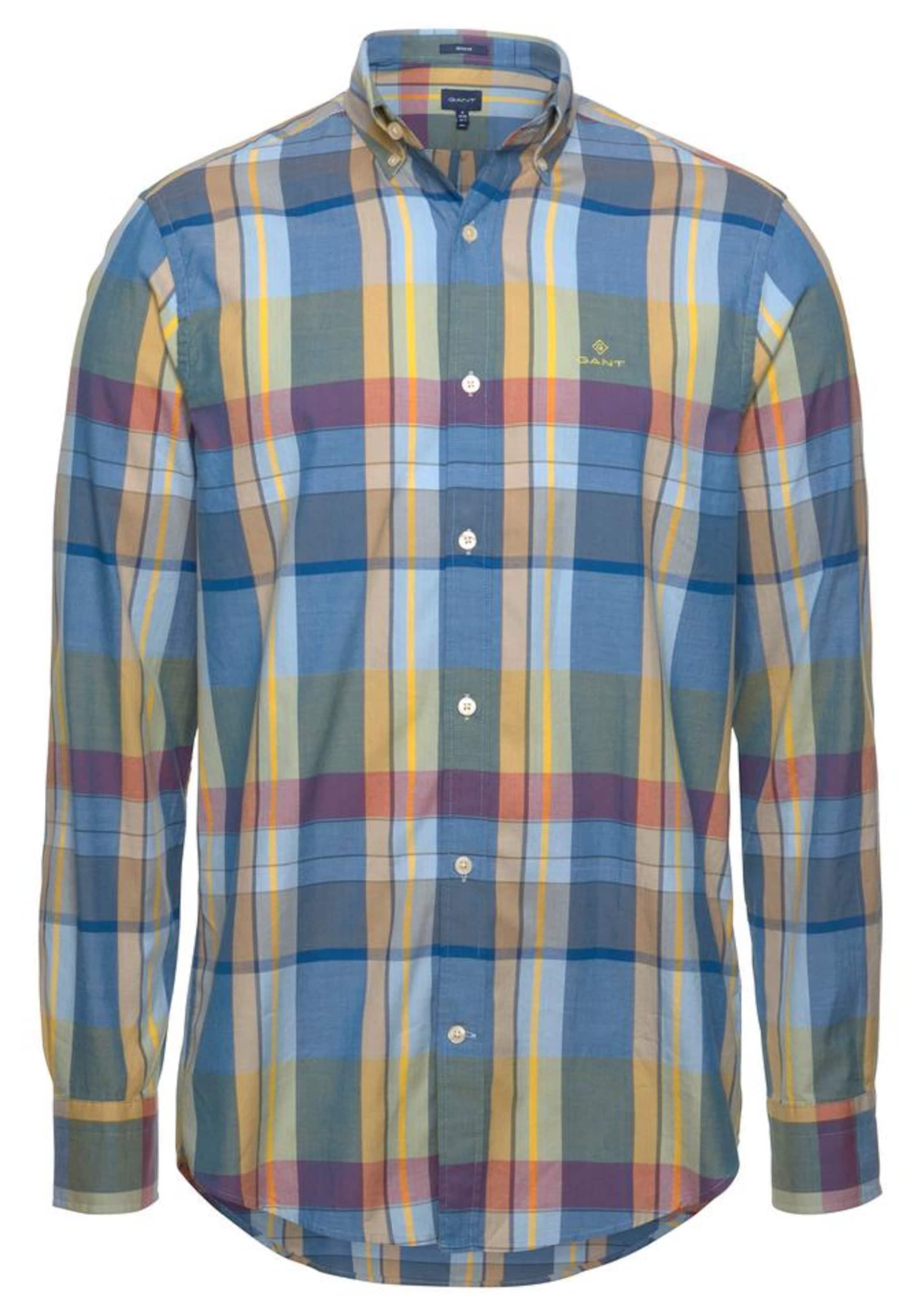Gant Hemd Hemd Hemd Gant In HimmelblauSenf HimmelblauSenf Gant Pastellrot In Pastellrot gm7vYyb6If