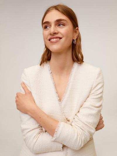 MANGO Blazer 'AMERICANA RAYITA' in beige, Modelansicht