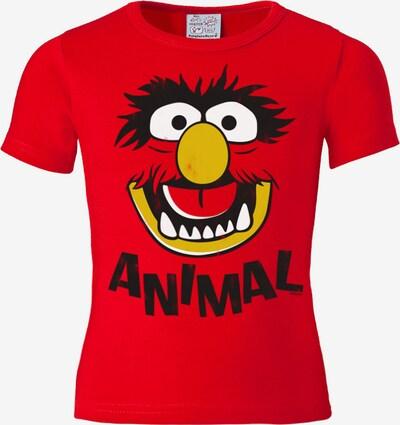 LOGOSHIRT T-Shirt 'Das Tier - Muppet Show - Animal' in rot, Produktansicht