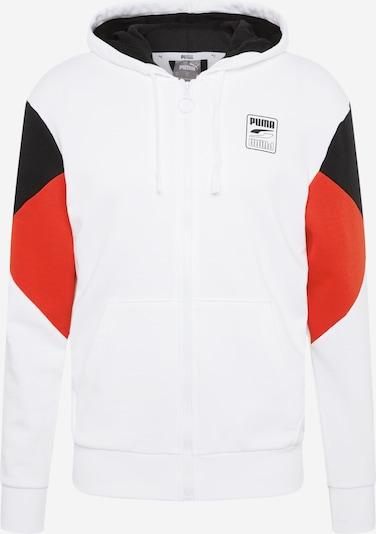 PUMA Sportpullover 'Rebel' in rot / schwarz / weiß, Produktansicht